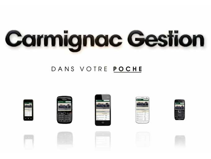 Carmignac site mobile