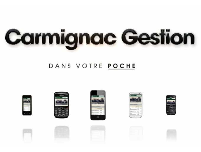 Carmignac site mobile